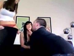 2 girls fart on guy face