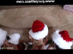 Christmas Porn - Johnny Sins and 3 Sexy Santa's Helpers