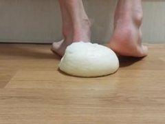 Very nice & very hot barefoot food crush