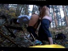 amateur fuck in forest  risky public fuck