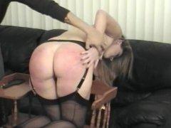 spanking men women in sofa