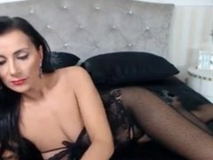 Raven Haired Milf Teases In Hot Body Suit