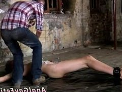 Free big dick blond gay porn movie Chained to the warehouse floor and