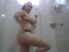 Spanish BBW In Shower