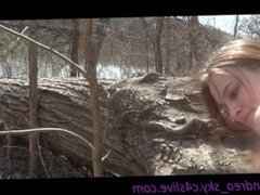 Nature trail fucking- andrea sky