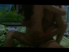 Young goddess rides her boyfriend on a hidden cam
