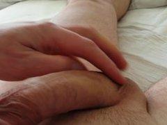 Teasing my cock, huge cumshot at the end