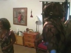 slave gets whipped by black domme from BlacksCrush.com