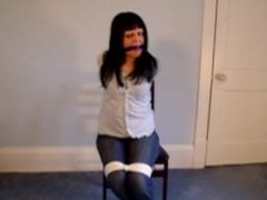 Tied up in the chair