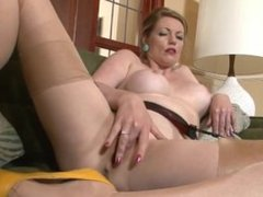 Hot Classy Milf FROM SEXDATEMILF.COM In Shiny Smooth Nylons