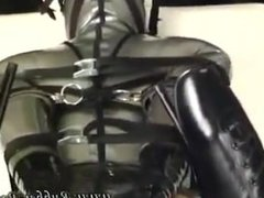 bondage latex and plug