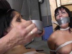 Sisters hogtied naked!