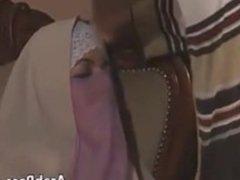 Turkish woman in hijab sucks cock and fucks