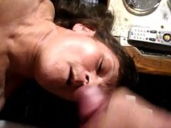Cumming on my wife tits and face