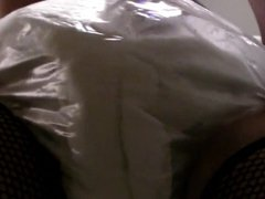 diapered sissybaby locked  in chastity cage