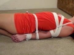 Sasha rope bondage crotch rope orgams