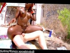 Naomie Kenza and two beautiful French-starved cock