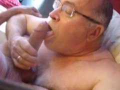 Grandpa gets really huge cock up in his ass