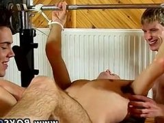 Sexy deep throat gay men kissing He gets some manhood from both, gargling