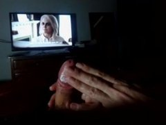 Handjob watching Tv, dedicated to Rose McIver iZombie