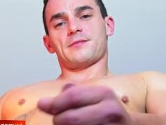 My str8 coach made a porn: watch his cock gets wanked by a guy!