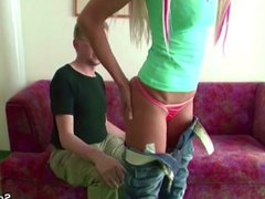 Daddy Seduce Young German Teen with Big Tits