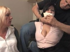 JJ&Danni hogtied and wrap gagged!