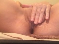 Close up of sexy wife cumming and squirting