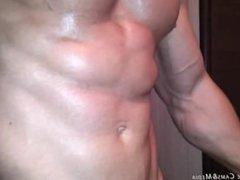 Verbal Hot Bodybuilder Cum from JockMenLive.com