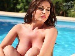 Lucy Pinder ~ Her Striped bikini
