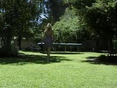 Horny brunette banged outdoors by a big hard cock