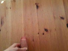 huge cumshot on a table !