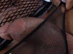 Interracial sex with ebony shemale Honey Foxx