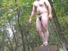 Str8 daddy nude in public park
