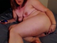 Anal toying and squiring on my bed
