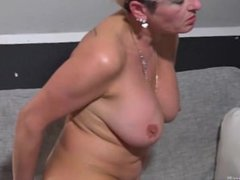 Oldnanny - Big cucumber in mature ass and pussy