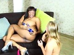 Big Tits Black and White Lesbian