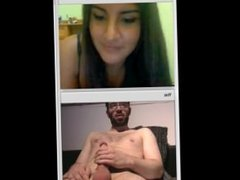 Girl watching guy cum on chat