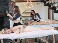 Mother daughter lesbian massage