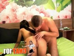 ass  Handsome guy with shaved head gladly warmed stunning doll's holes