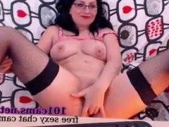 mature onlineweb chat Drunk sociable lady lying on back fingering indulges