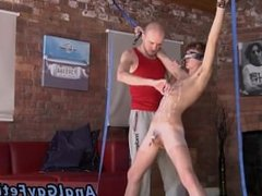 Shaved head gay porn Kieron Knight loves to deepthroat the super-hot jism