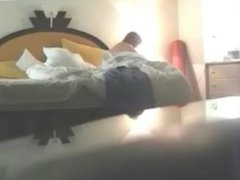 Spying 47 years old Ada oiling her body