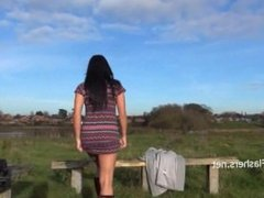 Dark mysterious Chloe Lovettes public nudity and outdoor masturbation