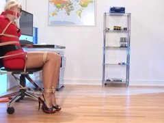 Secretary girl tied up
