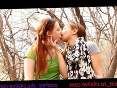 My girlfriend and i making out in the park- andrea sky