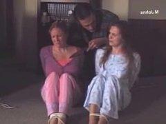 girls students pyjama bound and gagged