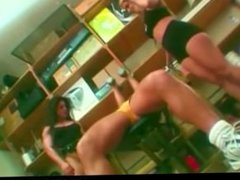 Lesbians Working Out Muscles & Pussies