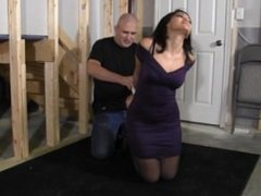 Sahrye tied , gagged and vibed