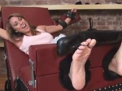 Milf Nikki toetied and tickled